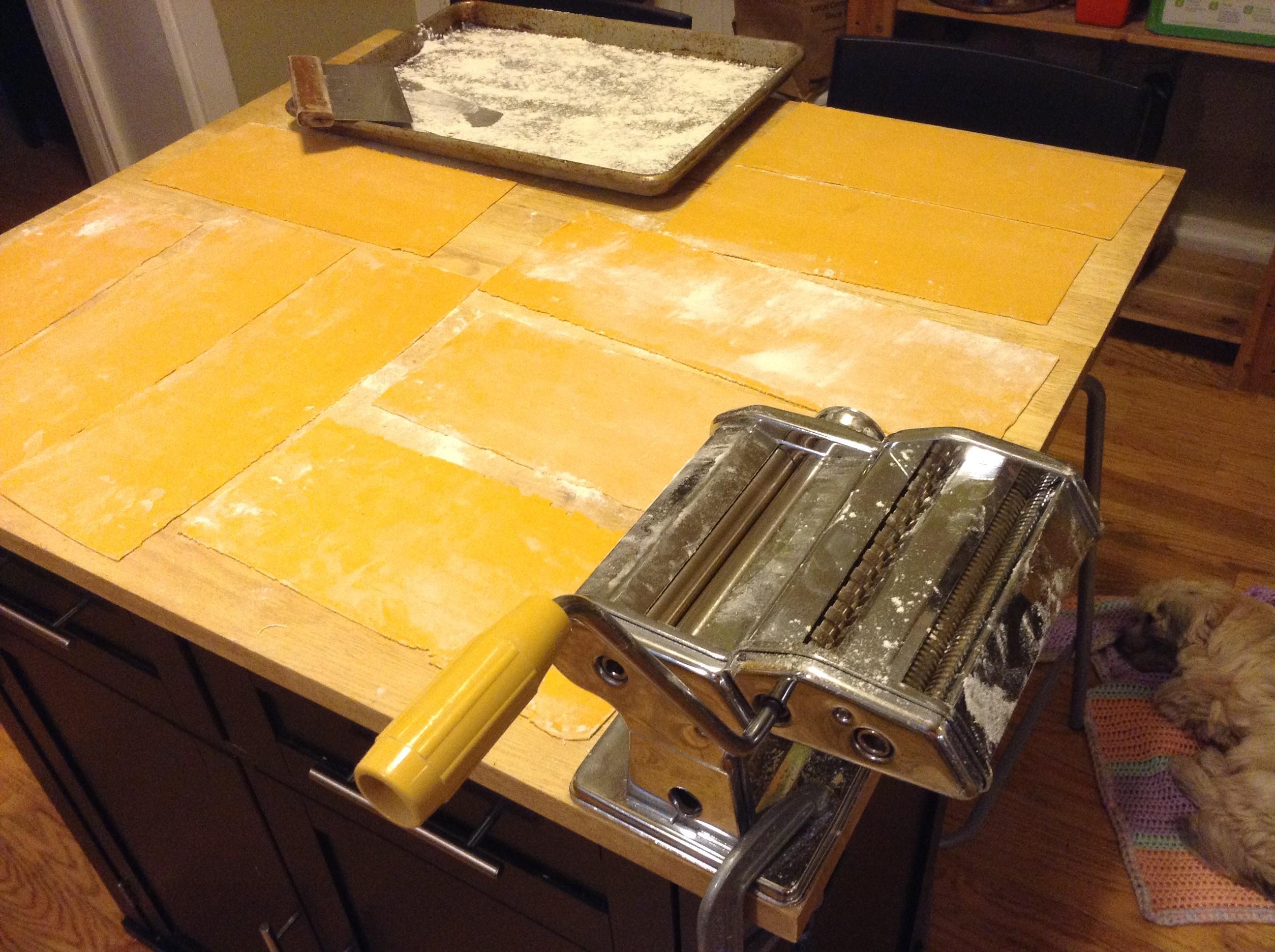 pasta dough sheets
