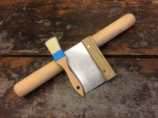 pastry brush bench scraper rolling pin