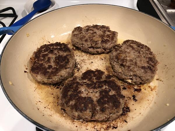 patties cooked