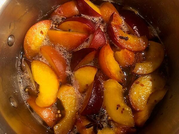 peaches in syrup cool