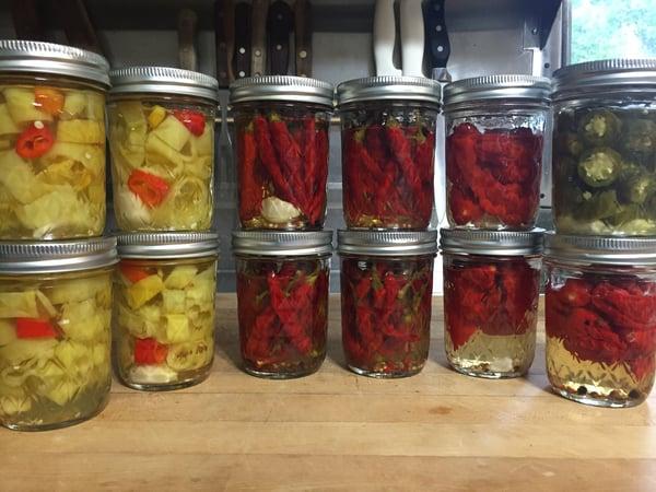 hot pickled pickles