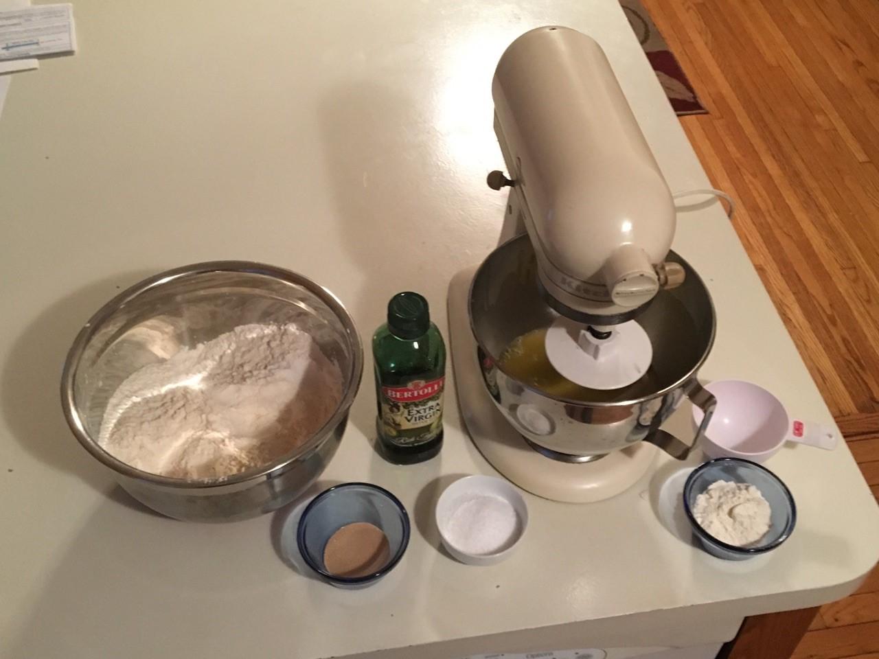 pizza dough set up