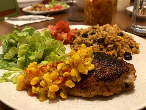 plated corn relish