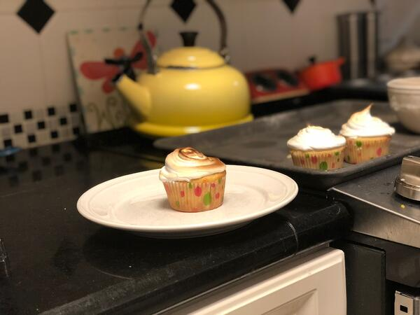 plated cupcake