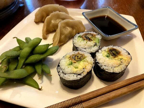 plated oyster rolls