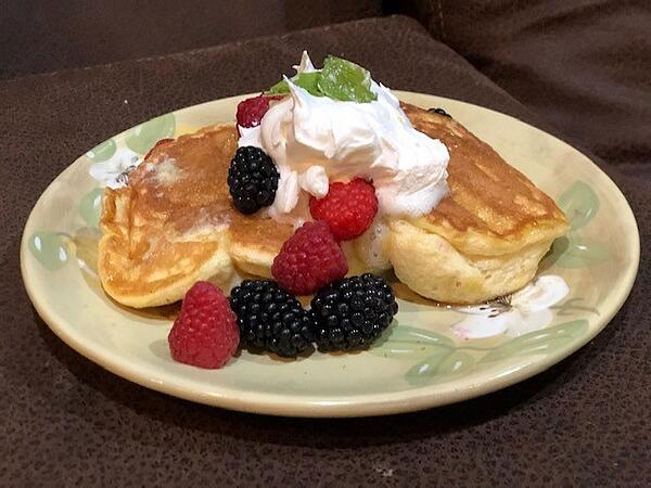 plated pancakes