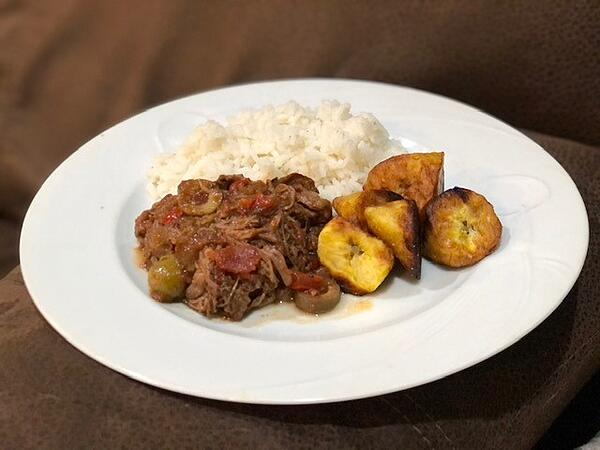 plated ropa vieja