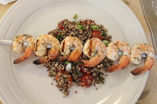 plated shrimp skewers 2