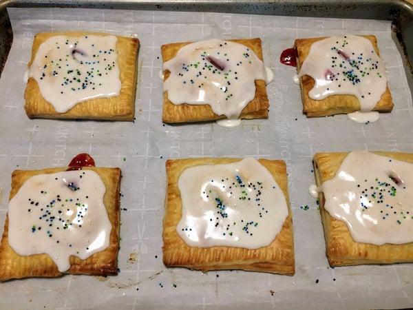 pop tarts with glaze & sprinkles