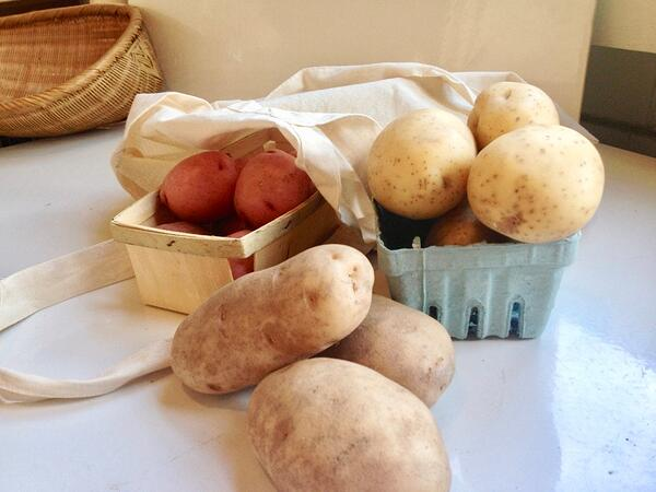 potatoes from market