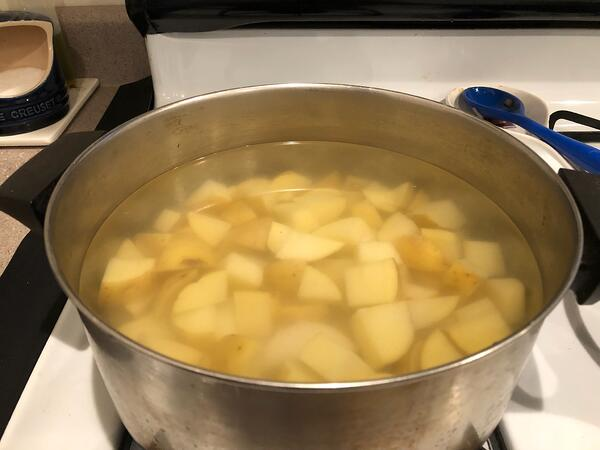 potatoes in water