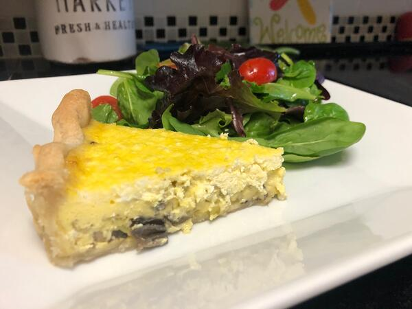 quiche with salad 2
