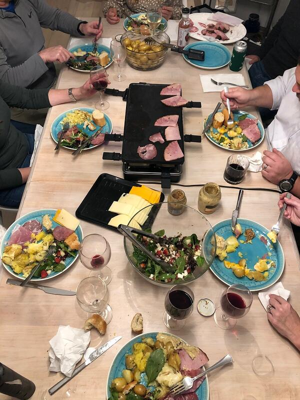 raclette table group