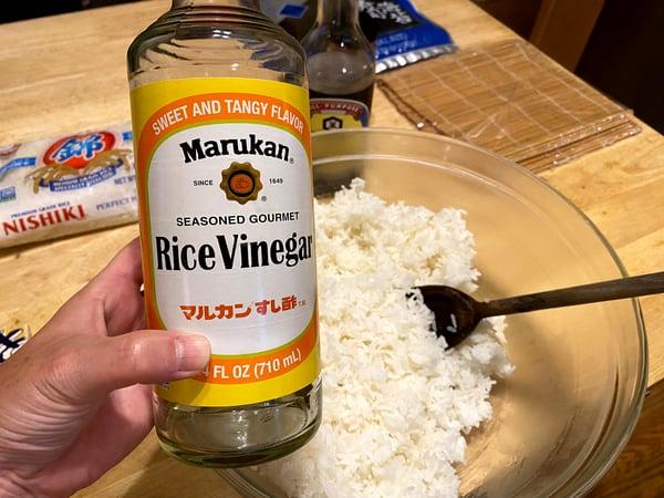 rice vinegar & rice