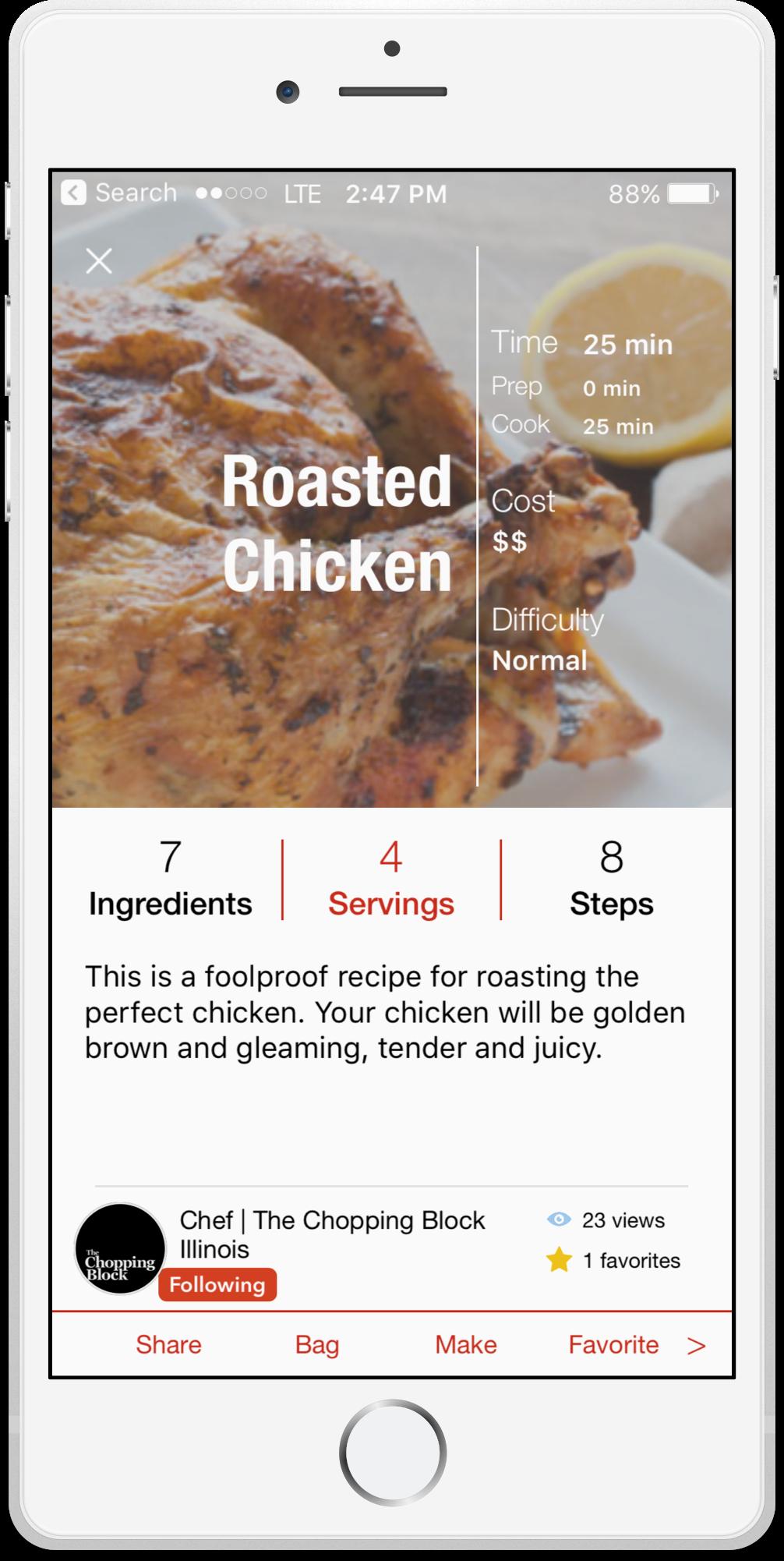 roasted chicken recipe