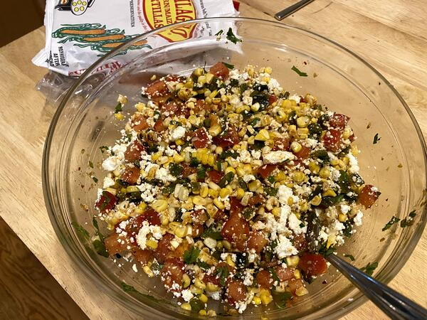 salad after mixing