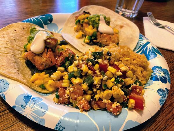 salad plated