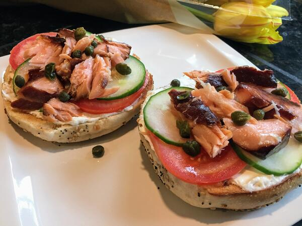 salmon bagels