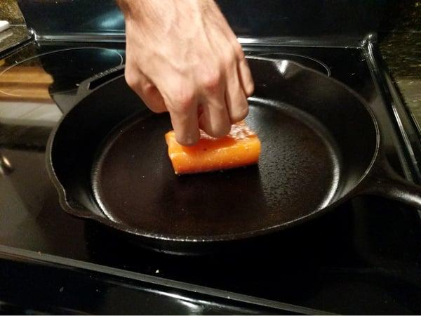 salmon push down