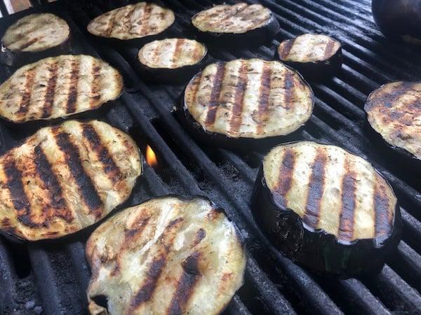 shisho eggplant on grill