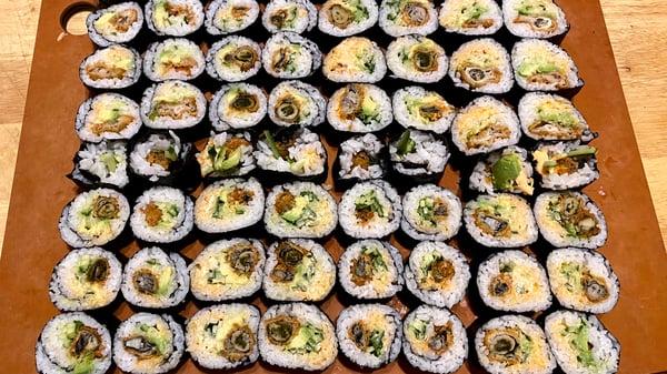 sliced oyster rolls