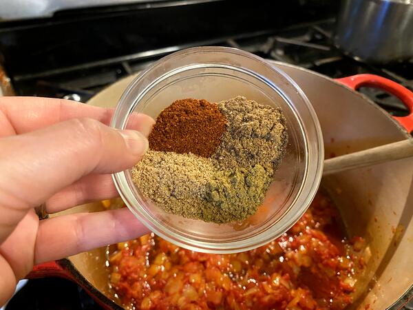 spices in sauce