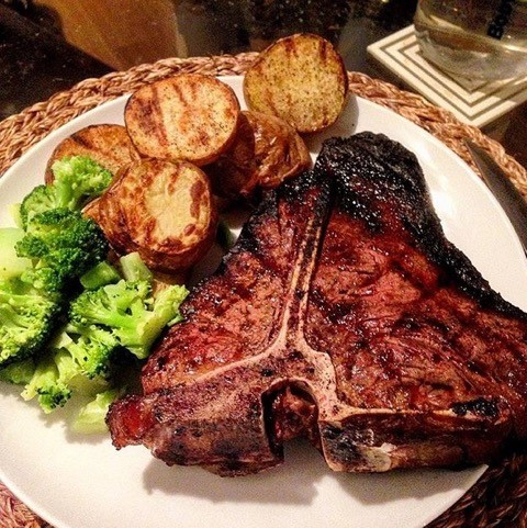 steak potatoes broccoli