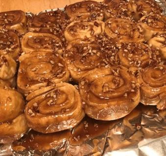 sticky buns home box