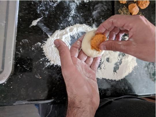 stuffing dough