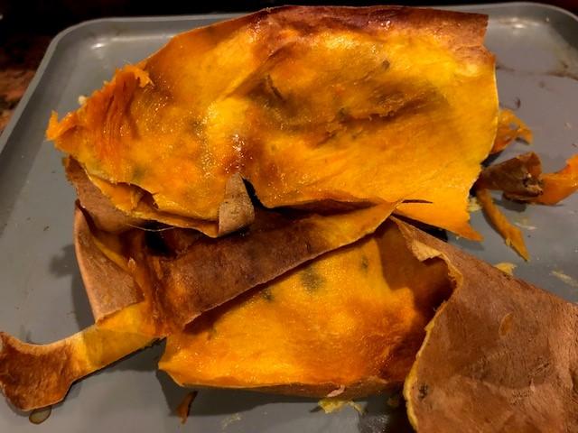 sweet potato skin
