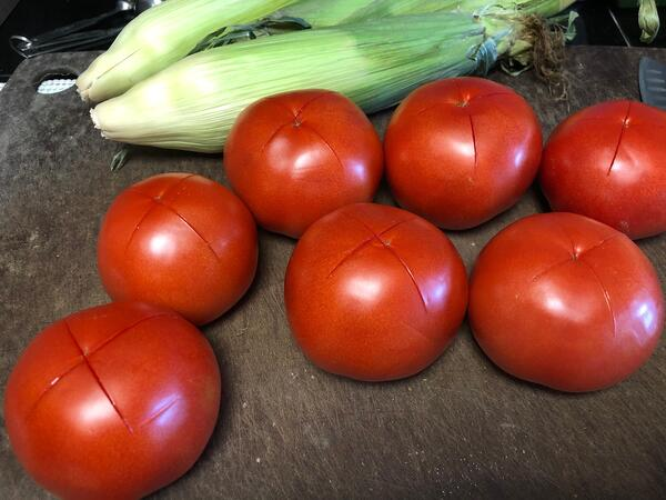 tomatoes with x