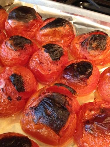 tomatoes charred