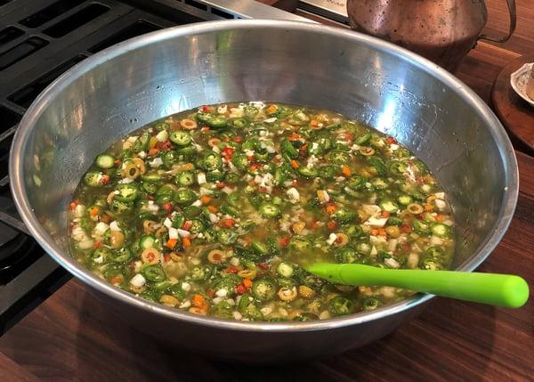 veggies in liquid