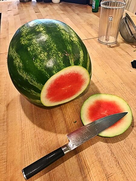 watermelon cut