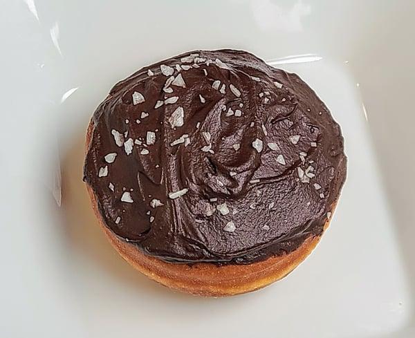 yeast donut with ganache