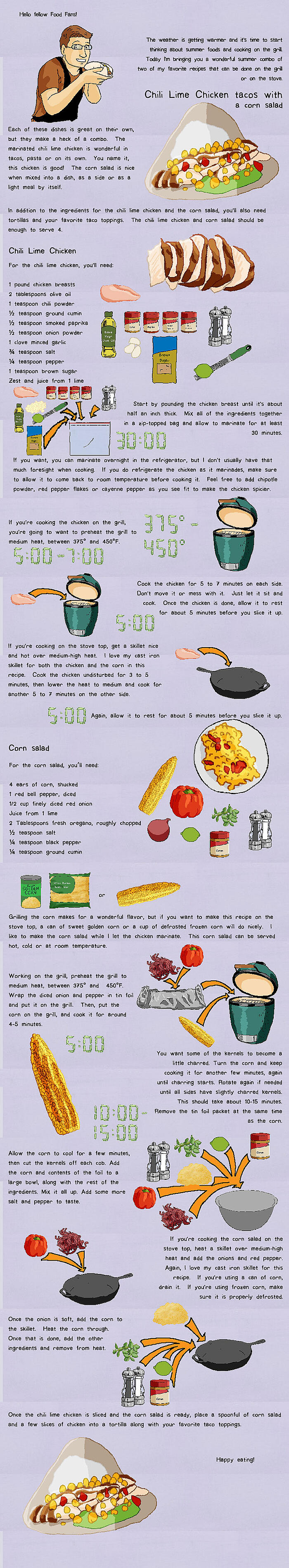 Food comics chili lime chicken tacos Can you put hot food in the refrigerator