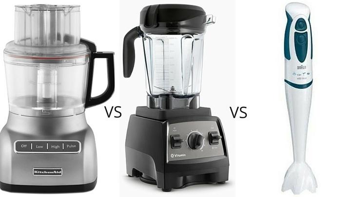 Food Processor vs Blender vs Immersion Blender