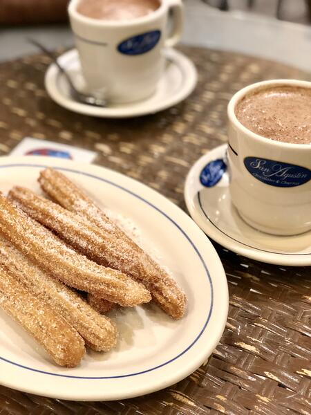 Churros y Mexican Hot Chocolate at San Agustin