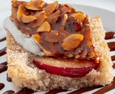 Plum Almond Cake with Almond Brittle-1