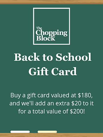 Back to School Gift Card Home Page