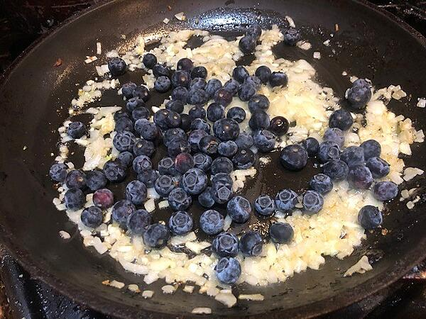 blueberries and onions