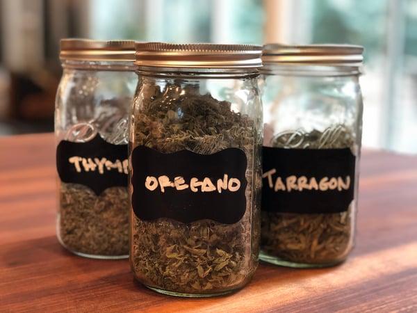 fresh dried herbs