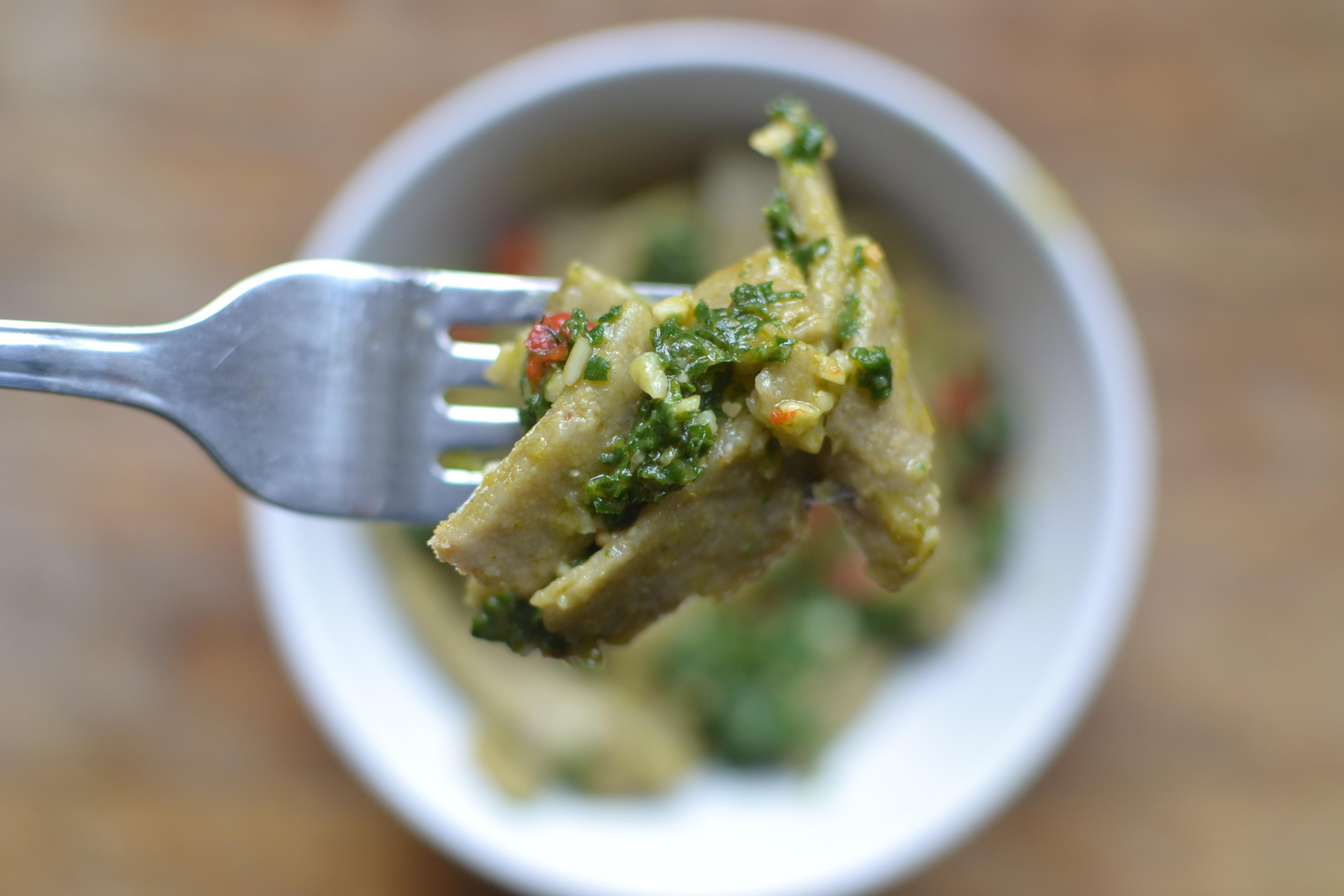 lentil pasta fork