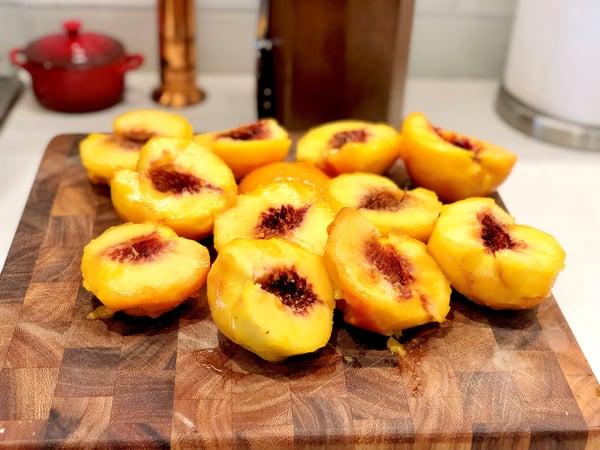 peaches in half
