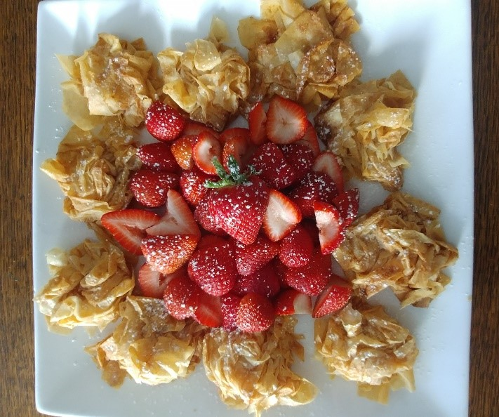 phyllo with strawberries