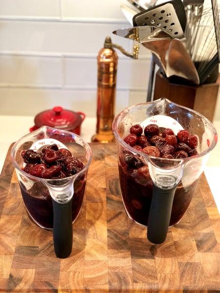 thawed frozen cherries