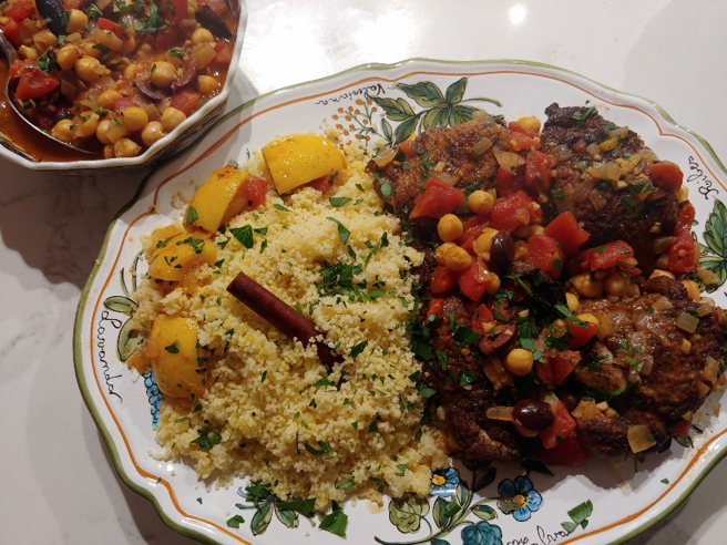 Braised Chicken Thighs with Couscous