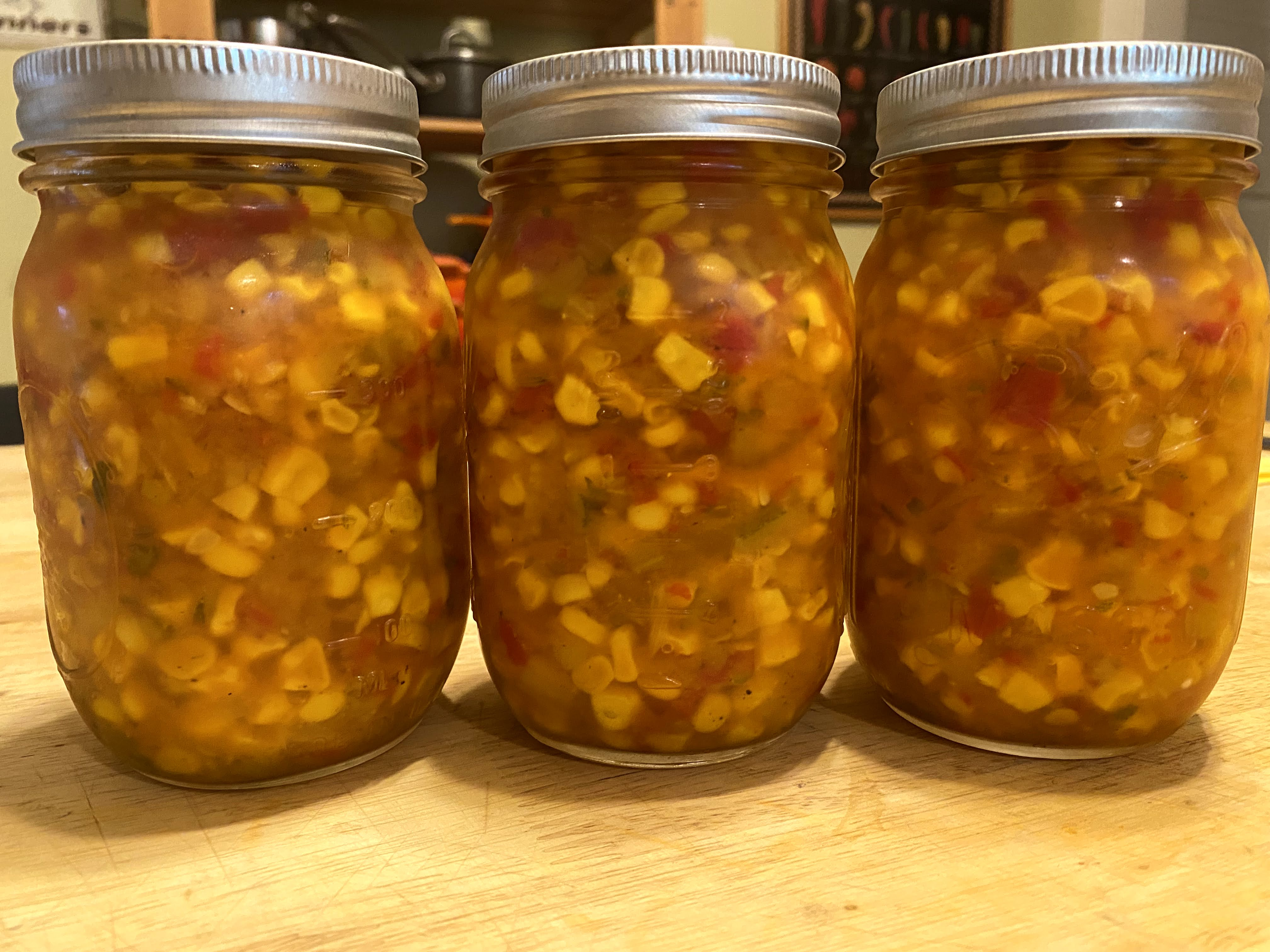 Refrigerator Pickled Corn Relish