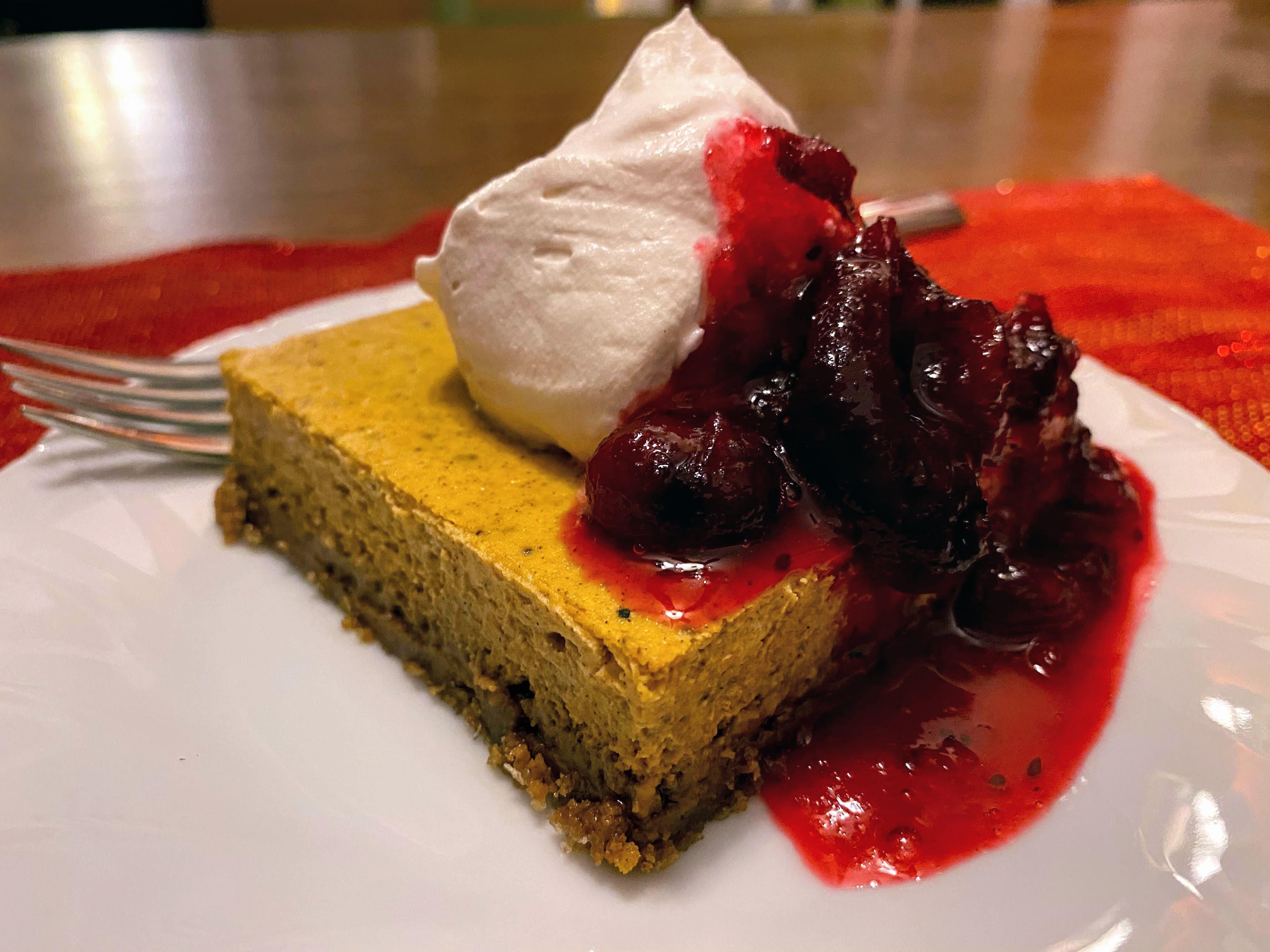 Pumpkin Cheesecake Bars with Whipped Cream