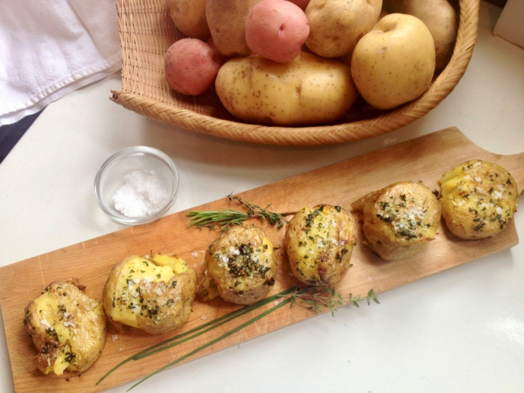 Herbed Smashed Potatoes